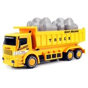 Super Truck Construction Dump Truck Children's Kid's Friction Toy Truck Ready To Run, No Batteries Needed