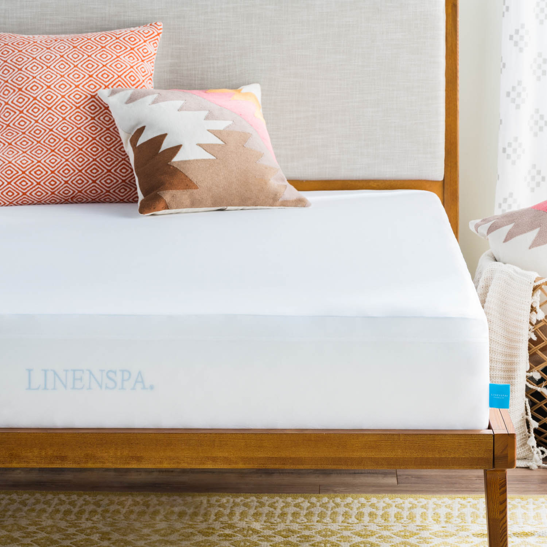 Linenspa Premium Smooth Mattress Protector - Vinyl Free