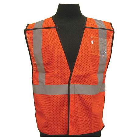 ML KISHIGO Hi Vis Vest,Class 2,2XL/3XL,Orange T517-2X-3X