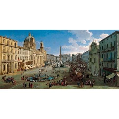 Piazza Navona Rome Poster Print by Gaspar van Wittel
