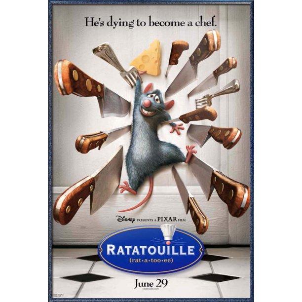 "Ratatouille - Framed Disney / Pixar Movie Poster / Print (Regular Style)  (Size: 24"" x 36"") - Walmart.com - Walmart.com"