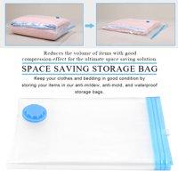 Fugacal Vacuum Compressed Storage Bag,6Pcs Vacuum Compressed Space Saving Storage Bags Clothes Pillow Travel Organizer,Vacuum Storage Bag