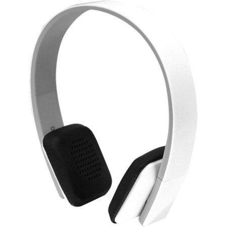 Aluratek Abh04f Aluratek Abh04f Bluetooth Wireless Stereo Headphones   Stereo   White   Wireless   Bluetooth   33 Ft   200 Hz   20 Khz   Over The Head   Binaural   Supra Aural