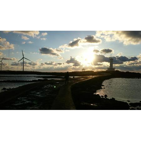 LAMINATED POSTER Beach Jeju Island Glow Landscape Sky Poster Print 24 x