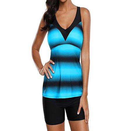 41100b088e Womail - Womail Women Plus Size Gradient Tankini Bikini Swimwear Swimsuit  Bathing Suit - Walmart.com
