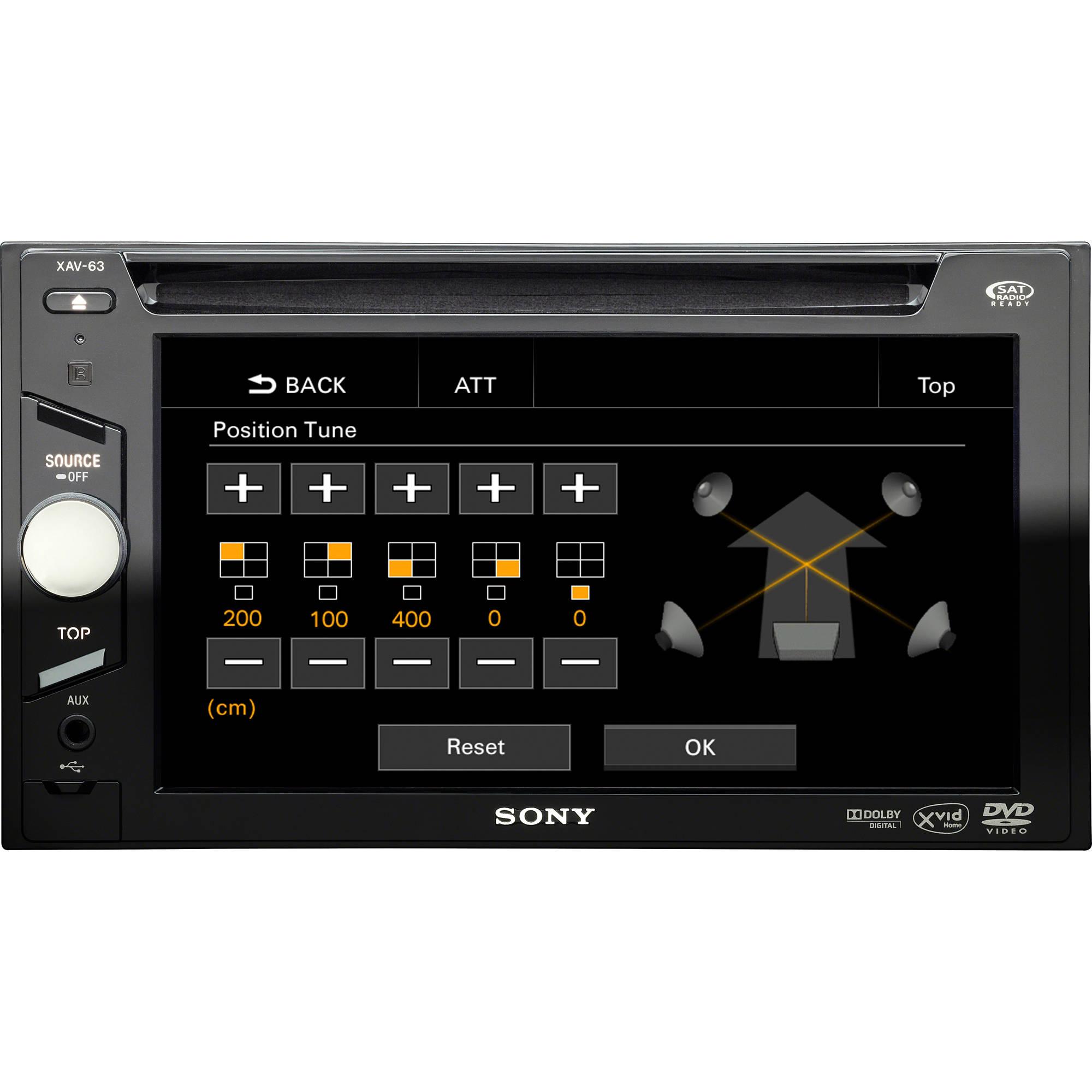 "Sony XAV63 Auto In-Dash 6.1"" LCD Receiver"