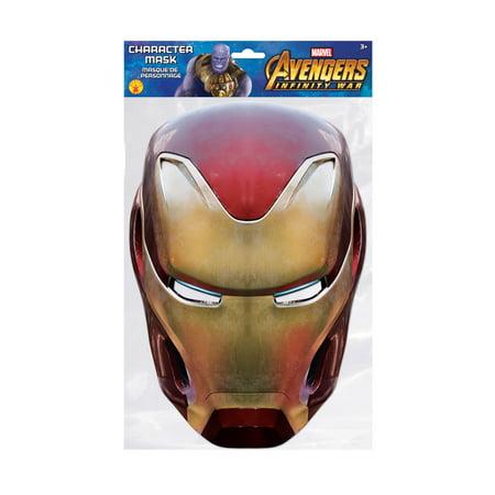 Iron Man Character Mask (One-Size) (Kids Iron Man Mask)
