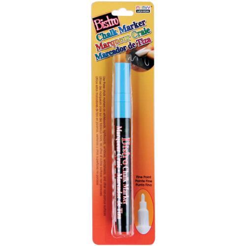 Bistro Chalk Marker Fine Point 1/Pkg-Fluorescent Light Blue
