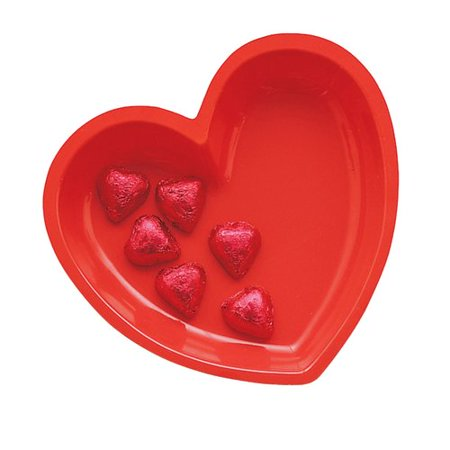Creative Converting Red Heart Shaped Plastic - Hearth Tray