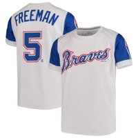b0a46036c Product Image Freddie Freeman Atlanta Braves Majestic Youth Sublimated  Cooperstown Collection Jersey T-Shirt - White