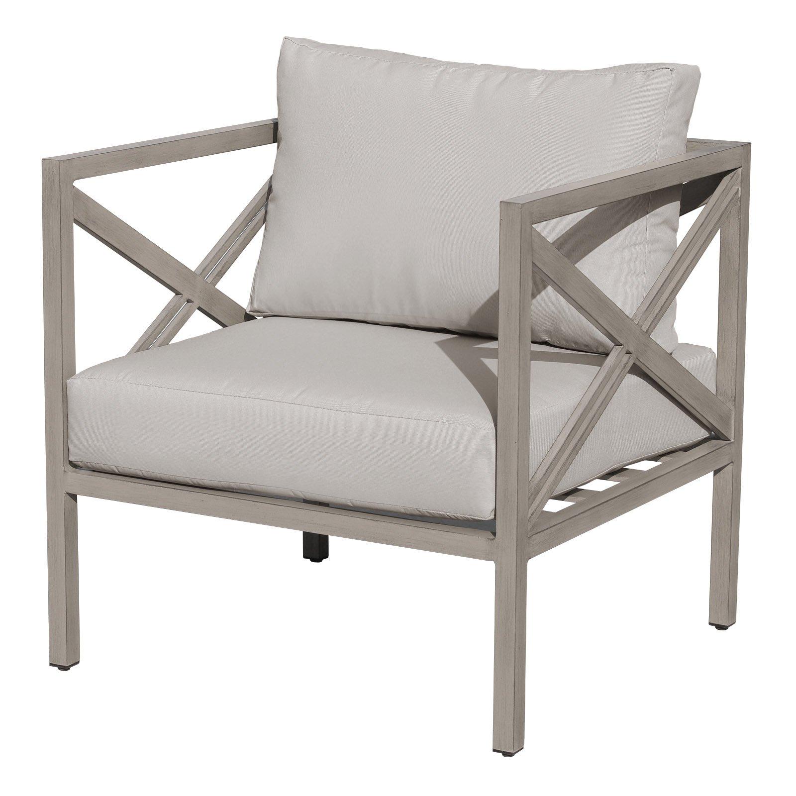 TK Classics Carlisle Aluminum Club Chair