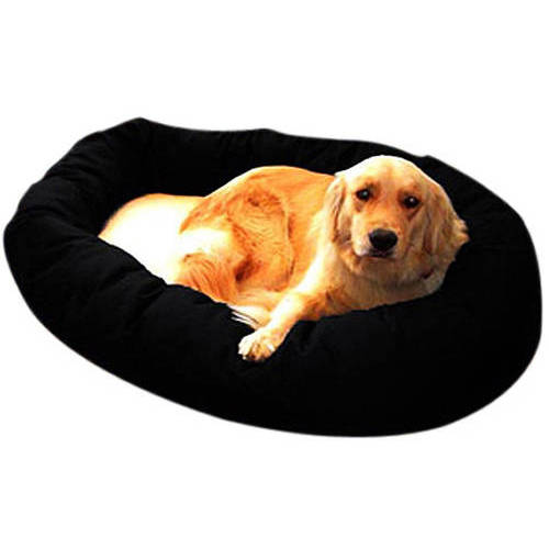 Extra Large 52'' Majestic Pet Bagel Bed Sherpa Style in Multiple Colors