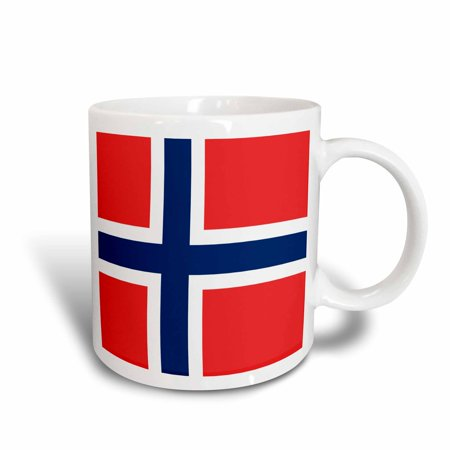 3dRose Flag of Norway - Norwegian red blue white Scandinavian Nordic Cross - Scandinavia world country - Ceramic Mug, 11-ounce