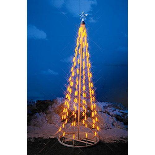 Solar Christmas Decorations.Homebrite Solar String Light Cone Tree Christmas Decoration
