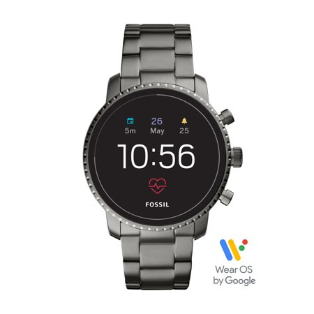 Fossil Gen 4 Explorist HR Men's Smartwatch - Smoke Stainless Steel - Powered with Wear OS by Google™
