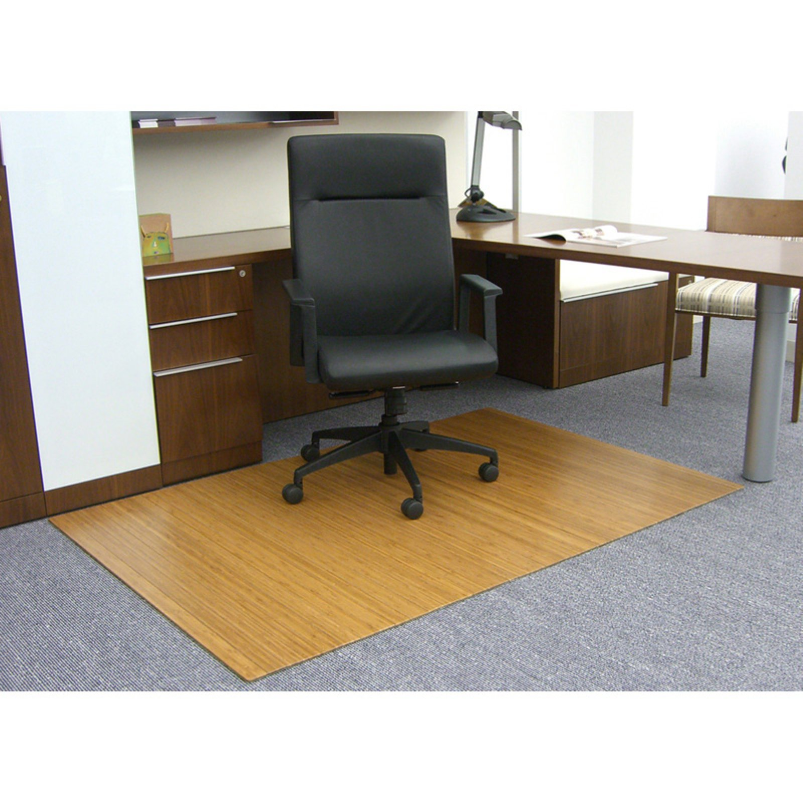 "Bamboo Roll-Up Chairmat, 72"" x 48"" - No Lip"