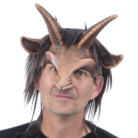 Male Goat Headpiece Adult Halloween Costume Accessory](Spiderman Cosplay For Sale)