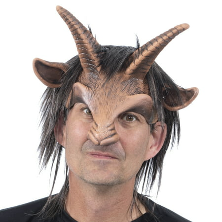 Zagone Studios Goat Boy Latex Adult Costume Mask (one size) - Great for Theater, Cosplay, Halloween or Renn - Catwoman Cosplay For Sale