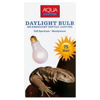 Aqua Culture Daylight Bulb Incandescent Reptile Lighting, 75-Watt