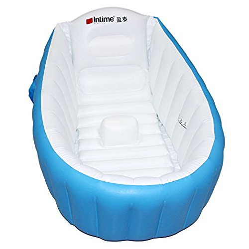 Inflatable Baby Bathtub, Kid Infant Toddler Infant Newborn Inflatable Foldable Shower Pool (blue)