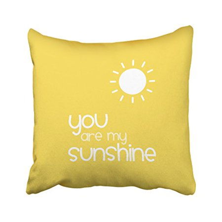 WinHome Decorative You Are My Sunshine Yellow Pillow Decorative Inspiration You Are My Sunshine Decorative Pillow