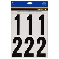 The Hillman Group 842274 3-Inch Numbers Kit, Black/White