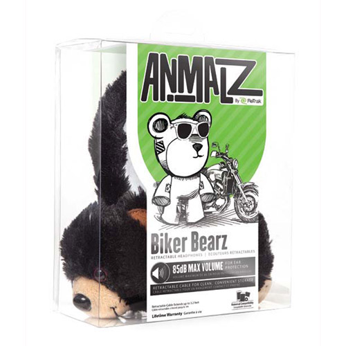 Emerge Retractable Animalz Bear Headphones, ETAUDFBEAR
