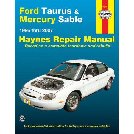 Haynes Ford Taurus & Mercury Sable 1996 Thru 2007 Automotive Repair Manual
