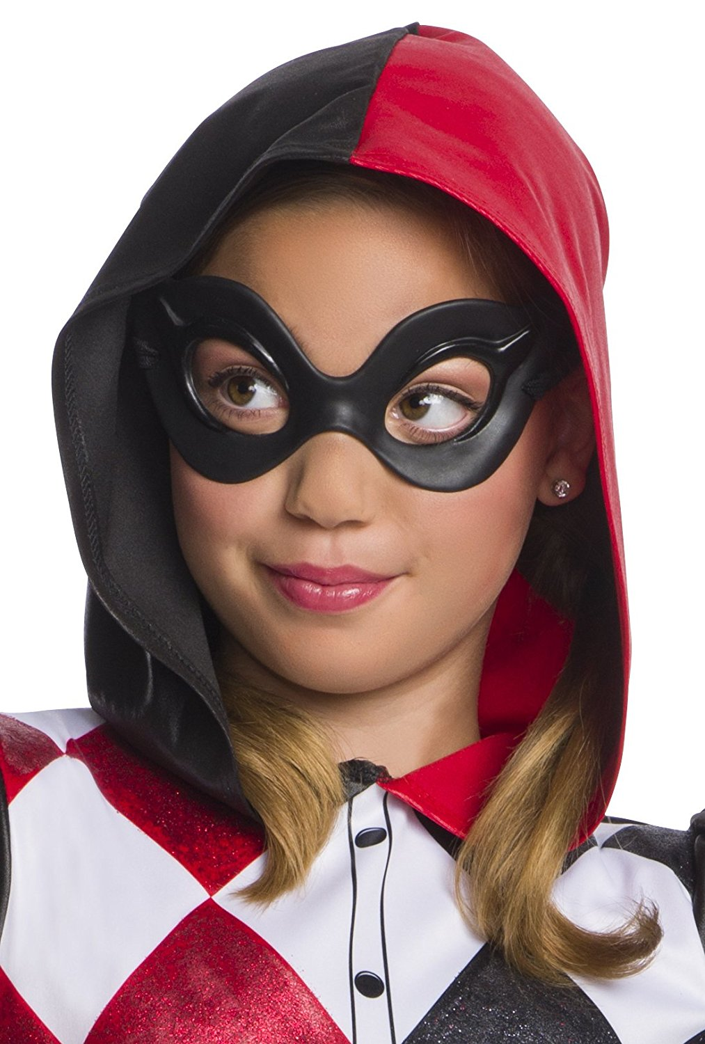 Dc Superhero Girls Harley Quinn Childs Costume Mask