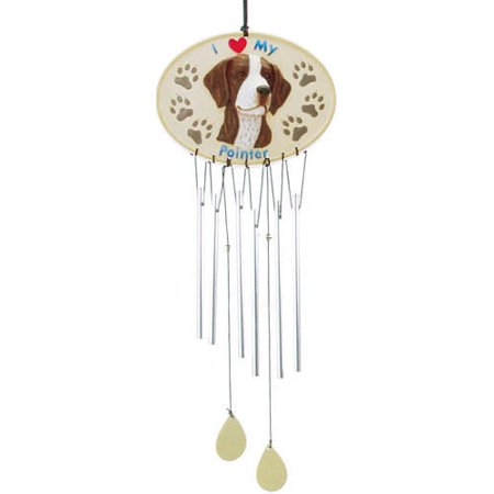 2017 Pointer Wind Chime, English Pointers by Spoontiques, Inc.