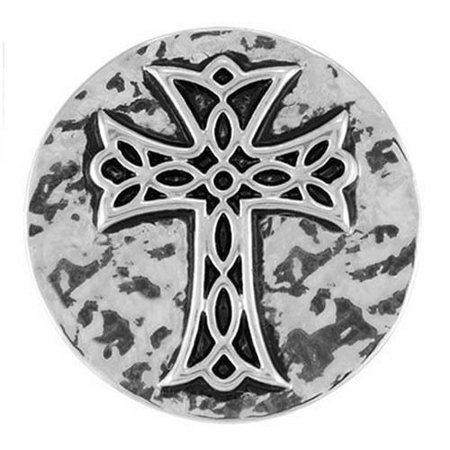Ginger Snaps Hammered Cross Snap Sn03-01