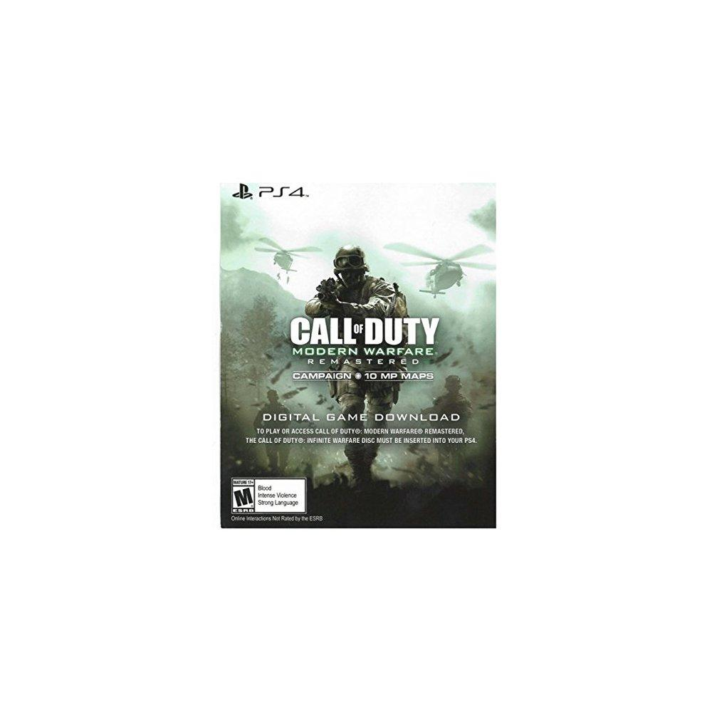 Ps call of duty modern warfare remastered download voucher