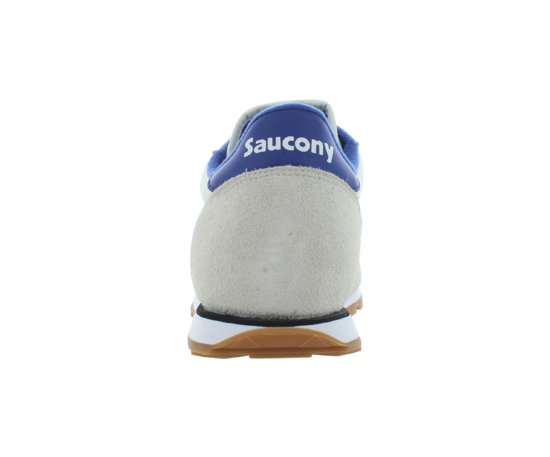 Saucony Men's Jazz Low Pro Cream Blue Ankle High Leather Fashion Sneaker 12M