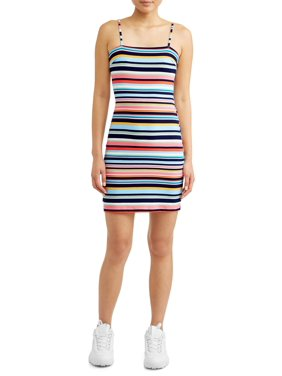 ae64f11cb95a Product Image Juniors' Stripe Dress with Back Tie