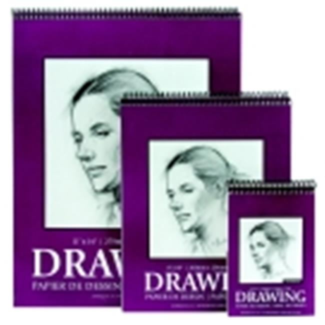 Jack Richeson 100 Percent Sulphite Spiral Binding Sketch Pad - 9 x 12 in. - 30 Sheets