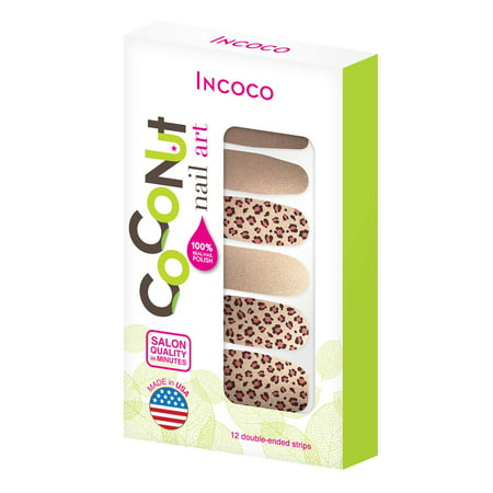 Coconut Nail Art by Incoco Nail Polish Strips, Steal the - Easy Nail Art Ideas For Halloween