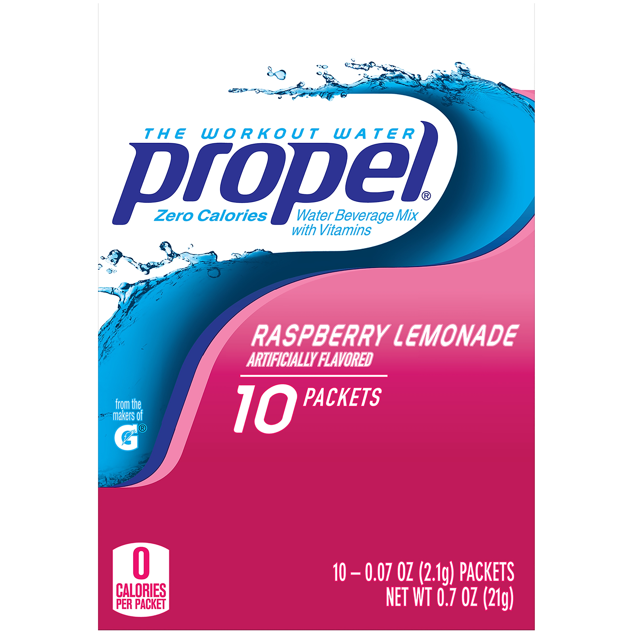 Propel Drink Mix, Raspberry Lemonade, .07 Oz, 10 Packets, 1 Count