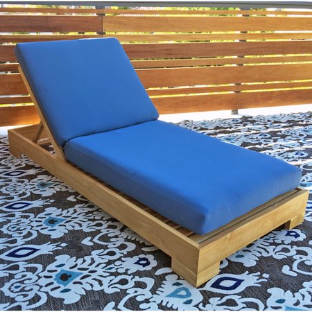 Willow creek designs outdoor sunbrella chaise lounge for 23 w outdoor cushion for chaise