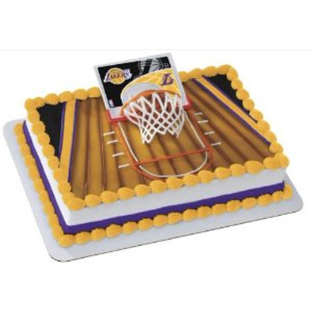 Surprising Nba La Lakers Slam Dunk Birthday Party Cake Decoration Topper Kit Funny Birthday Cards Online Sheoxdamsfinfo