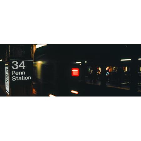 Subway train at New York City Penn Station New York City New York State USA Poster (Train From Penn Station To Edison Nj)