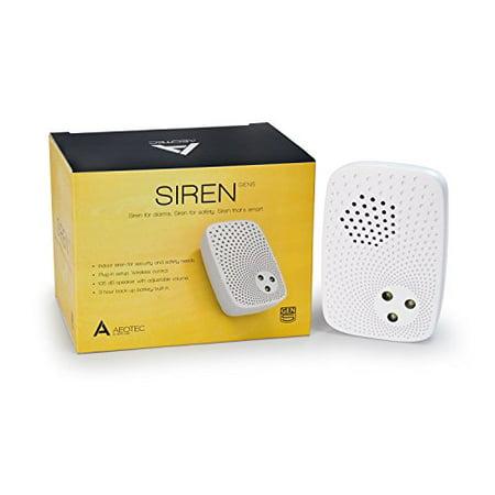 Aeotec Siren Gen5, Z-Wave Plus, 105dB siren with strobe alerts, Plug-in, Backup - Alert Siren