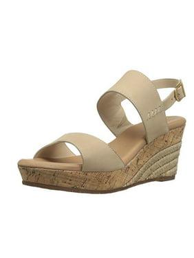 7ec81e75715 Product Image UGG Womens Elena Wedge Sandal Horchata Leather Size 10 M US