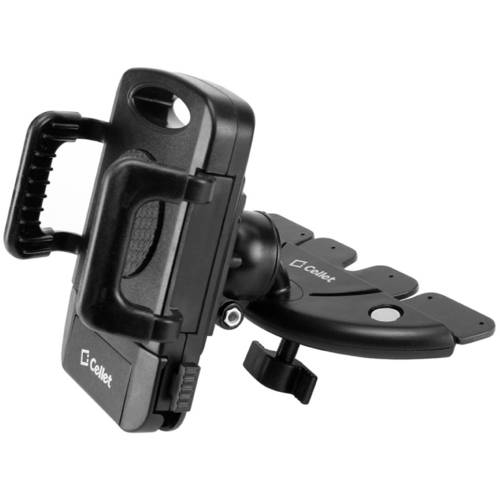 Cellet CD Slot Phone Holder Mount, Stable and Durable CD Slot Mount Holder with 360 Degree Rotational Cradle and Tightening Knob for Smartphones, iPods, GPS and Other Devices Up to 4 Inches Wide