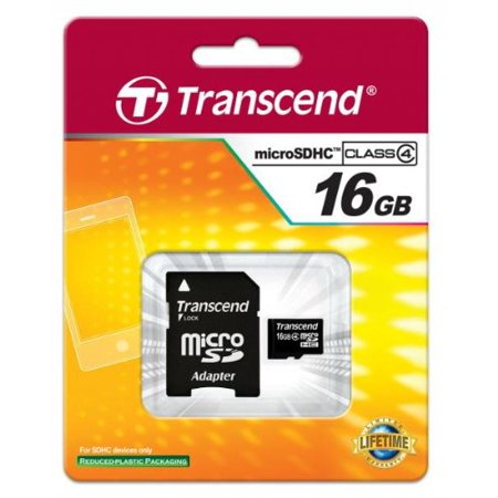 LG TRANSPYRE Cell Phone 16GB MicroSDHC Memory Card + Adapter (Sd Card 16 Gb For Cell Phone)