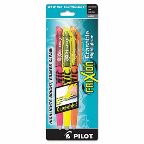 2 units Pilot Erasable Highlighter, Assorted Ink, Chisel, 3 pack per unit