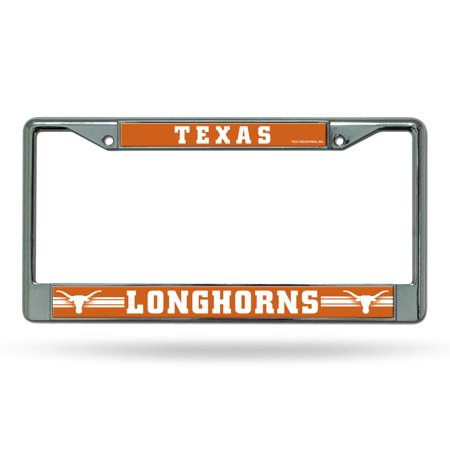 Texas Longhorns NCAA Chrome Metal License Plate Frame Texas Longhorns Metal License Plate
