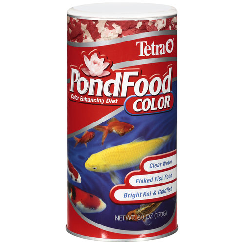 Tetra Pondfood Color Enhancing Diet Flaked Fish Food, 6 oz