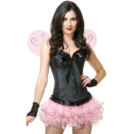 Womens Small-Medium Pink Insect Cute Tutu and Wings Costume Set - Cute Woman Costumes