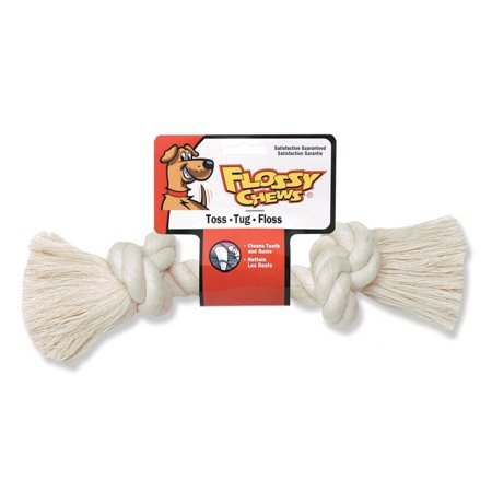 Bone Pet Toy - Mammoth Pet Products-Flossy Chews Cotton Rope Bone Dog Toy- White 16 In/xlarge