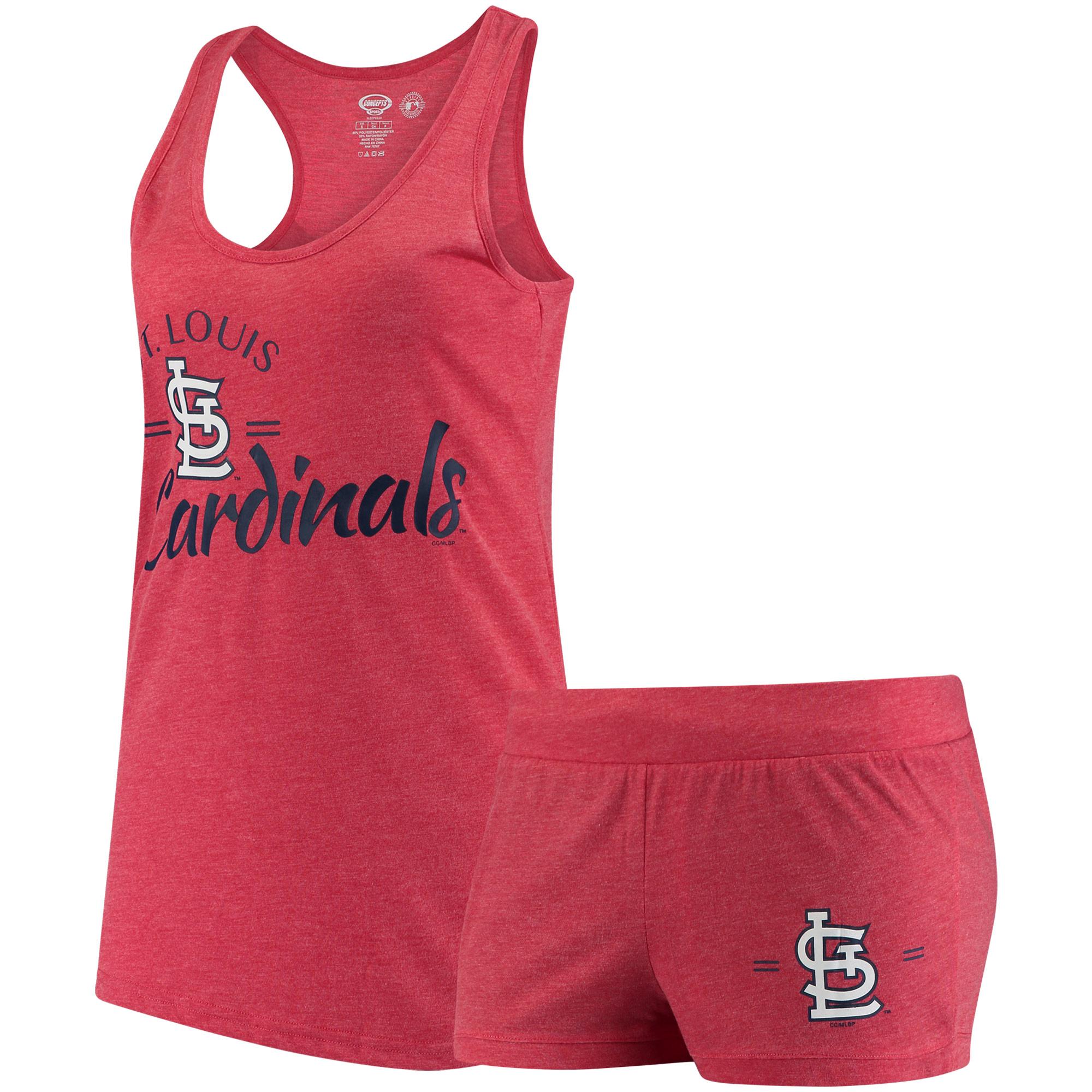 St. Louis Cardinals Concepts Sport Women's Principle Tank Top and Shorts Set - Red